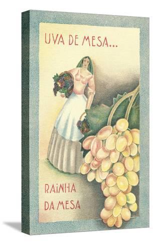 Portuguese Table Grape Label--Stretched Canvas Print