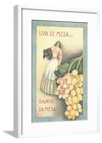 Portuguese Table Grape Label--Framed Art Print