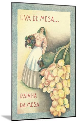 Portuguese Table Grape Label--Mounted Art Print