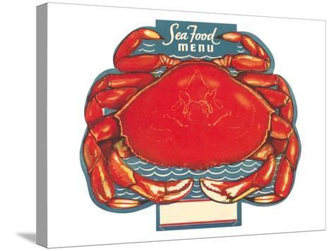 Seafood Menu, Crab--Stretched Canvas Print