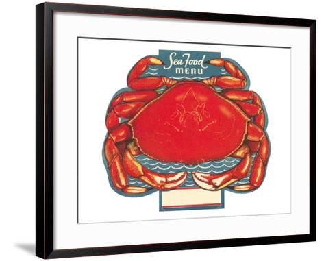 Seafood Menu, Crab--Framed Art Print
