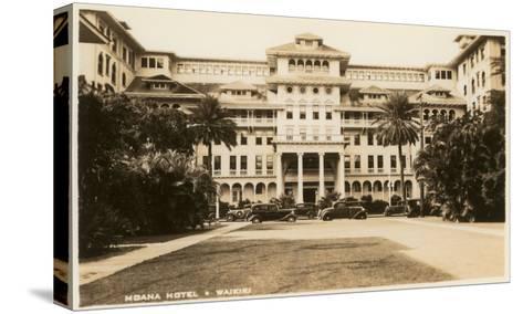 Moana Hotel, Waikiki, Hawaii--Stretched Canvas Print