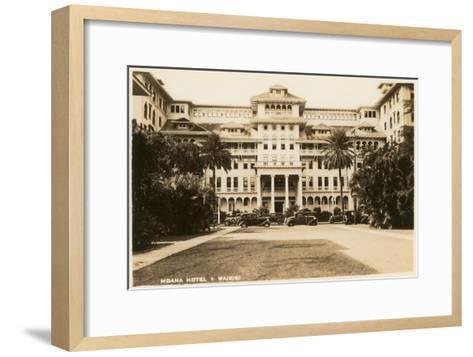 Moana Hotel, Waikiki, Hawaii--Framed Art Print