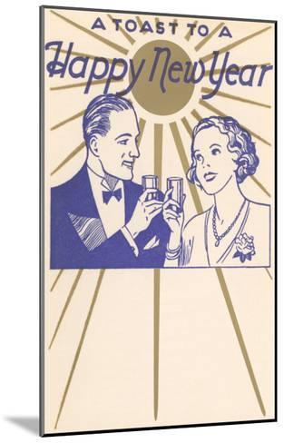 A Toast to a Happy New Year, Couple--Mounted Art Print