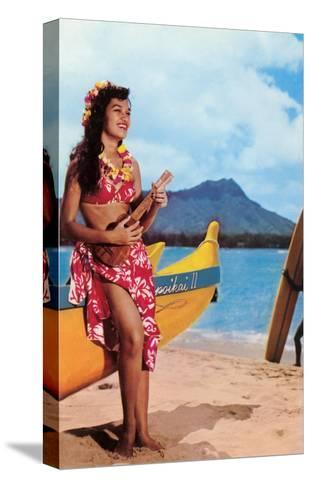 Hula Girl by Outrigger, Hawaii--Stretched Canvas Print