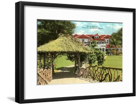 Hotel Haleiwa, Hawaii--Framed Art Print