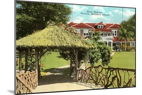 Hotel Haleiwa, Hawaii--Mounted Art Print