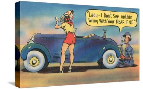Naughty Mechanic Joke--Stretched Canvas Print