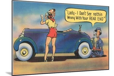 Naughty Mechanic Joke--Mounted Art Print