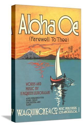 Sheet Music to Aloha Oe--Stretched Canvas Print