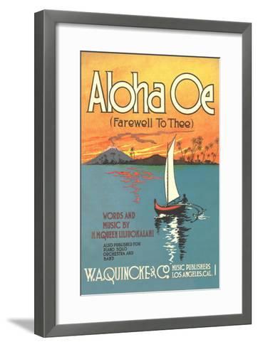 Sheet Music to Aloha Oe--Framed Art Print