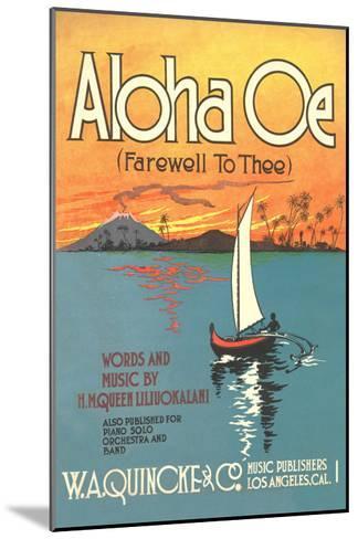 Sheet Music to Aloha Oe--Mounted Art Print