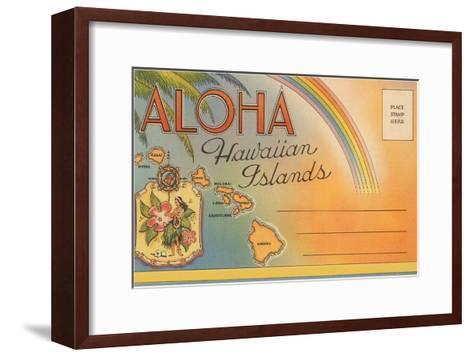 Aloha, Hawaiian Islands, Folder--Framed Art Print