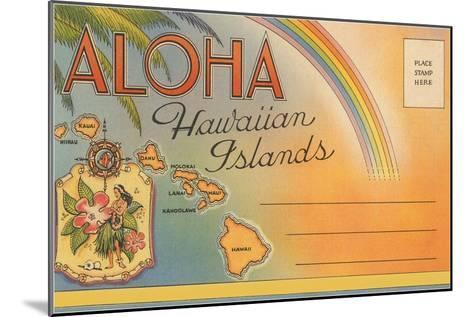 Aloha, Hawaiian Islands, Folder--Mounted Art Print