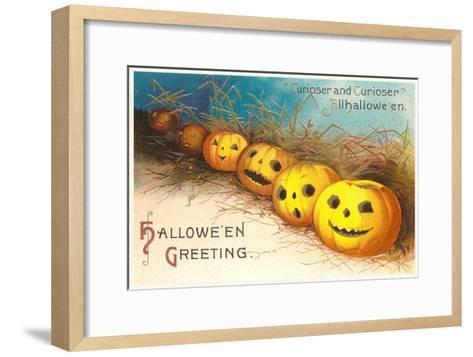 Halloween, Curiouser and Curiouser, Jack O'Lanterns--Framed Art Print
