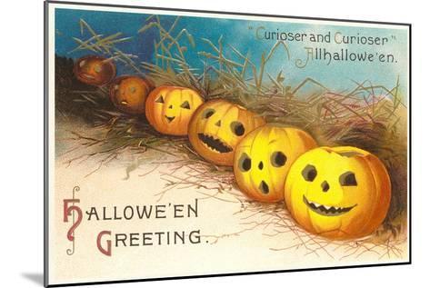 Halloween, Curiouser and Curiouser, Jack O'Lanterns--Mounted Art Print