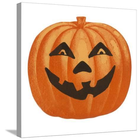 Halloween, Big Jack O'Lantern--Stretched Canvas Print