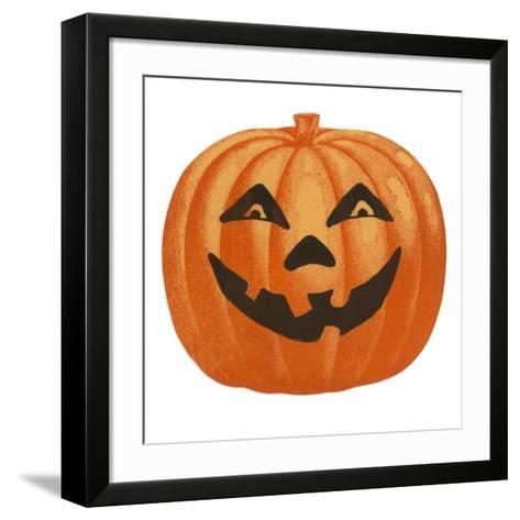 Halloween, Big Jack O'Lantern--Framed Art Print