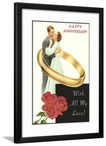 Happy Anniversary, Couple in Wedding Band--Framed Art Print