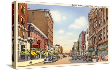 Second Street, Davenport, Iowa--Stretched Canvas Print