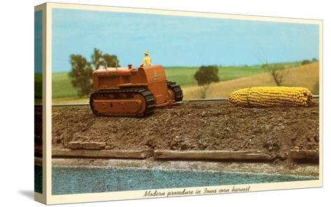 Giant Ear of Corn Towed by Tractor, Iowa--Stretched Canvas Print