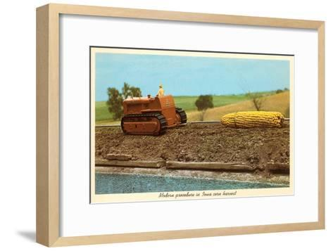 Giant Ear of Corn Towed by Tractor, Iowa--Framed Art Print