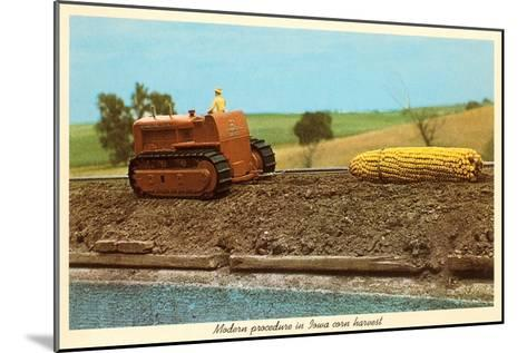 Giant Ear of Corn Towed by Tractor, Iowa--Mounted Art Print
