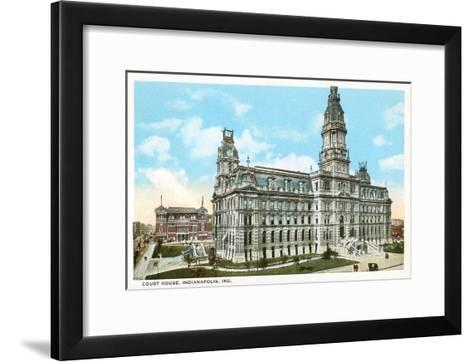 Courthouse, Indianapolis, Indiana--Framed Art Print