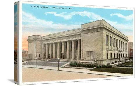 Public Library, Indianapolis, Indiana--Stretched Canvas Print
