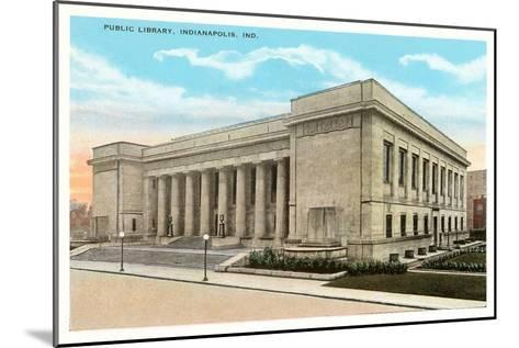 Public Library, Indianapolis, Indiana--Mounted Art Print