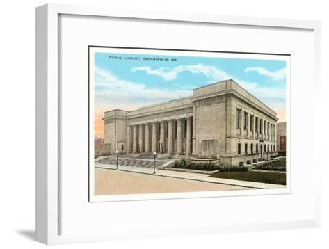 Public Library, Indianapolis, Indiana--Framed Art Print