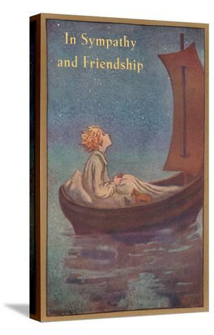 In Sympathy and Friendship, Little Prince in Boat--Stretched Canvas Print