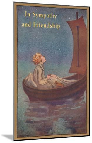 In Sympathy and Friendship, Little Prince in Boat--Mounted Art Print