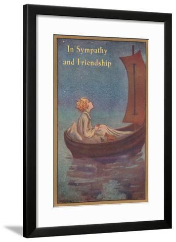 In Sympathy and Friendship, Little Prince in Boat--Framed Art Print
