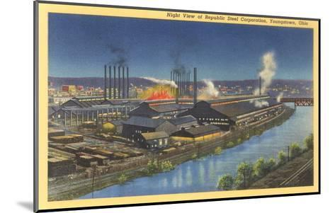 Night, Republic Steel Corporation, Youngstown, Ohio--Mounted Art Print
