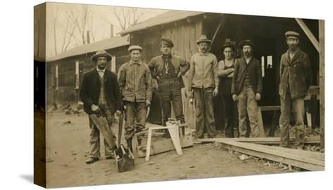 Carpentry Crew--Stretched Canvas Print