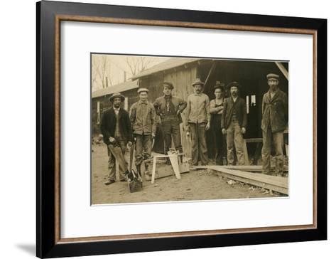 Carpentry Crew--Framed Art Print