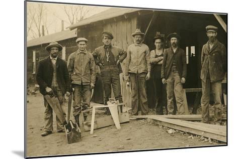 Carpentry Crew--Mounted Art Print