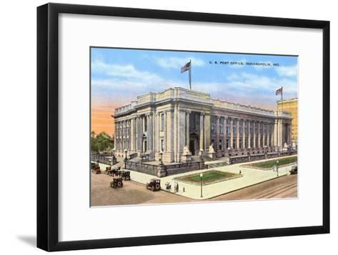 Post Office, Indianapolis, Indiana--Framed Art Print