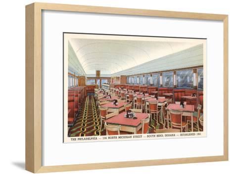 Philadelphia Diner, South Bend, Indiana--Framed Art Print