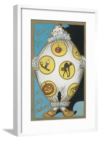 Clown with Halloween Motifs--Framed Art Print