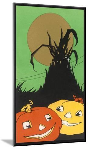 Two Happy Jack O'Lanterns--Mounted Art Print