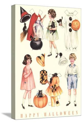 Halloween Outfits for Paper Dolls--Stretched Canvas Print