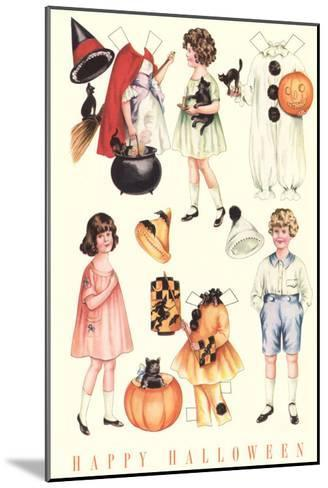 Halloween Outfits for Paper Dolls--Mounted Art Print