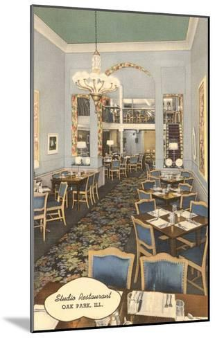Studio Restaurant, Oak Park, Illinois--Mounted Art Print