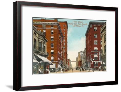 Locust Street, Des Moines, Iowa--Framed Art Print