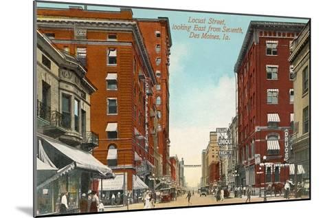 Locust Street, Des Moines, Iowa--Mounted Art Print