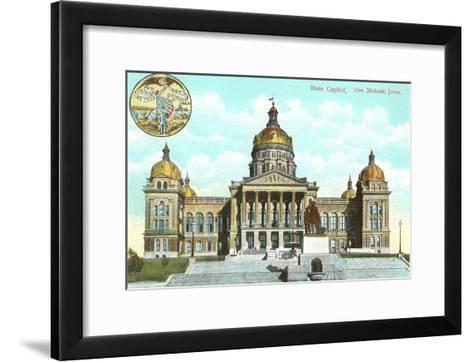 State Capitol, Des Moines, Iowa--Framed Art Print