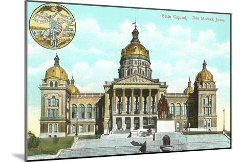 State Capitol, Des Moines, Iowa--Mounted Art Print