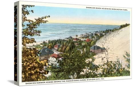 Sheridan Beach, Michigan City, Indiana--Stretched Canvas Print